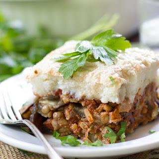 Vegan Eggplant Moussaka.