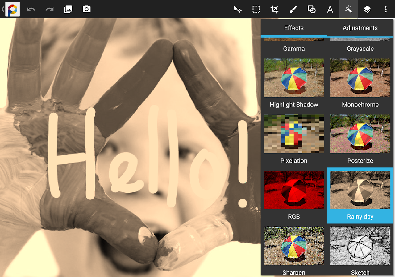 PhotoSuite 4 Free: captura de tela