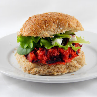Butternut Squash and Beet Burger
