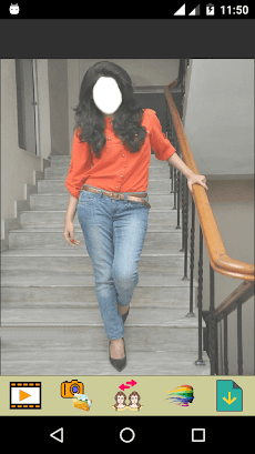 Girls Jeans Fashion Selfieのおすすめ画像1