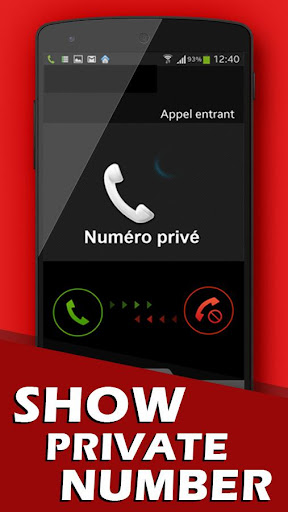 Show private number