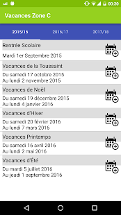 Vacances Scolaires 2018-2019 - náhled