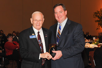 "Photo: ""Sharing the Dream"" Award Winner Jim Walther with Rev. Andy Mangum"