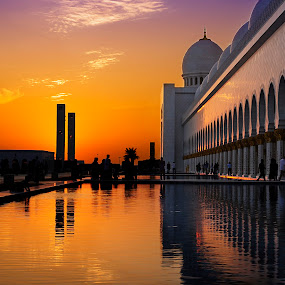 The Mosque by Jbern Eugenio - Travel Locations Landmarks ( structure, sunset, architectural, travel, historical, public, place, landscape )