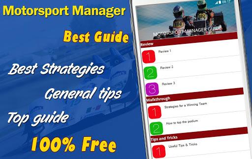 Guide for Motorsport Manager
