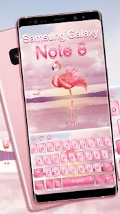 Keyboard for Galaxy Note 8 pink - náhled