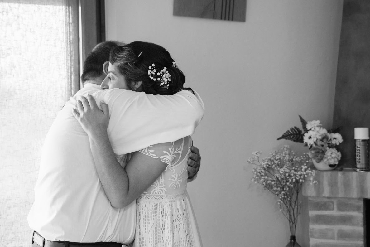 L'abbraccio con il padre