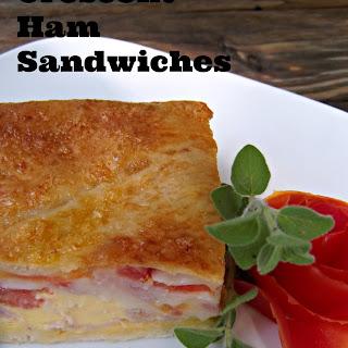Cresent Ham Sandwiches.