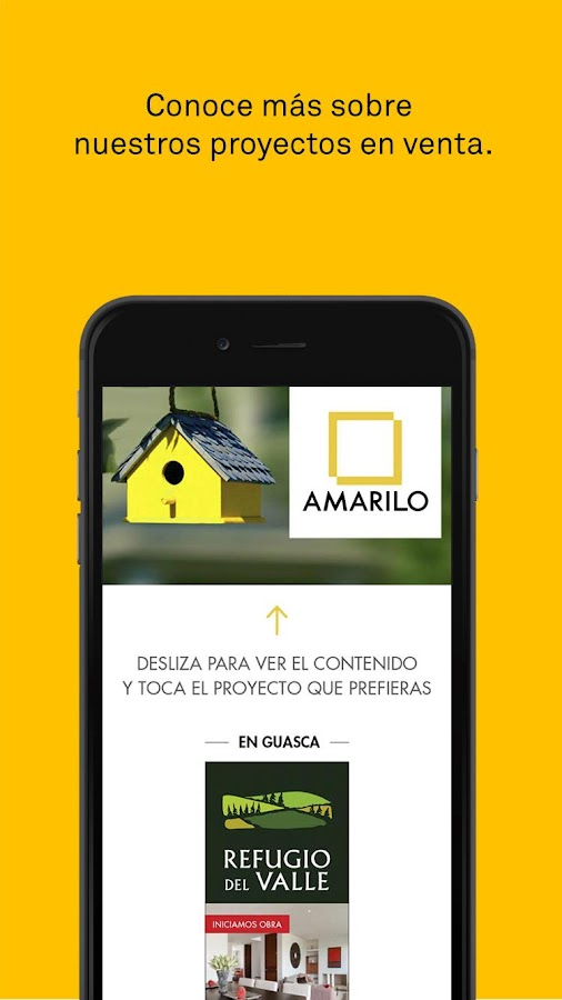 Revista Amarilo: captura de pantalla