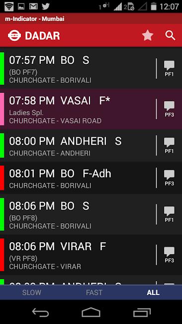 #3. Mumbai Local Train Timetable (Android)
