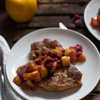 Pork Chops with Cranberry-Apple Compote (#30MinuteMondays)