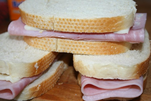 Fold ham and cheese slices to fit on 6 bread slices; top with remaining...