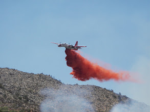 Photo: airtanker retardant drop