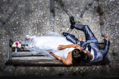 Wedding by Jurica Žumberac - Wedding Bride & Groom ( love, wedding, street, stones, marriage, bride, groom )