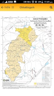 Earthquake Hazard Map of India - náhled