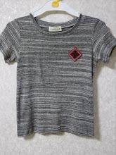 Photo: 初めて縫った息子のTシャツにこぎんワッペン。