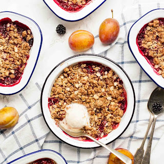 Plum and Blackberry Crisp
