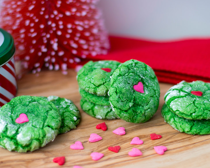 Crinkle Grinch Cookies Recipe