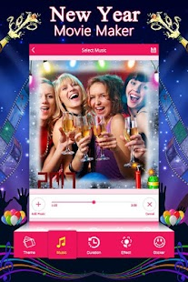New Year Movie Maker : New Year Photo Slide Show - náhled
