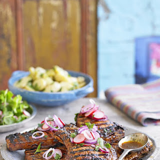 Thomasina Miers' Mexican Pork Chops in a Lime and Ancho Marinade Recipe
