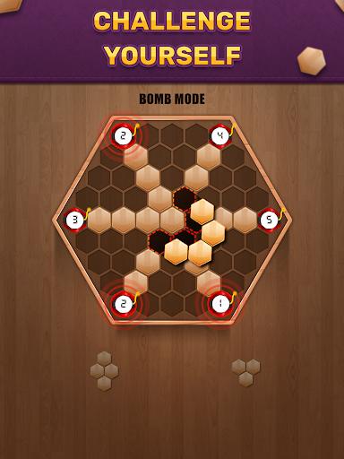 Wooden 100 Block Puzzle: Wood Hexa Star Gem apktram screenshots 6