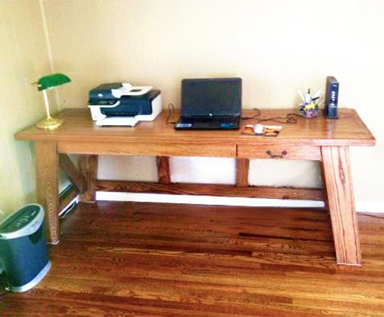 деревянный компьютерный стол своими руками