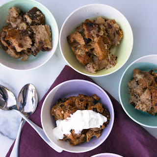 Banana Rum Raisin Bread Pudding