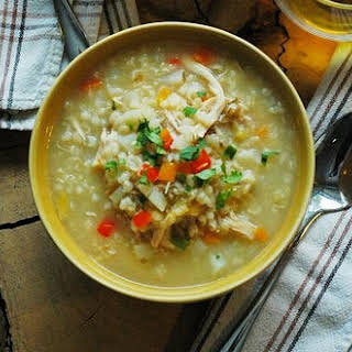 Homemade Chicken and Rice Soup.