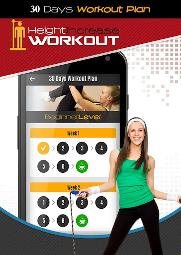 Height Increase Workout: Girls Exercise App Report on Mobile Action