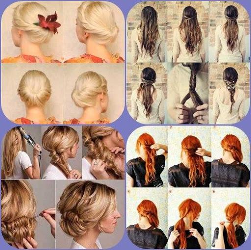 一步简单的发型步骤