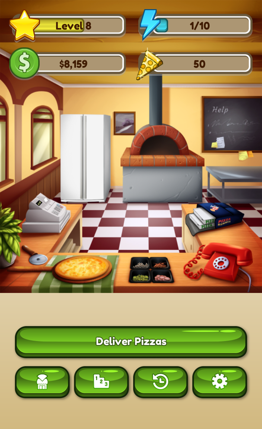 Pizza Runner - Fitness Game- screenshot