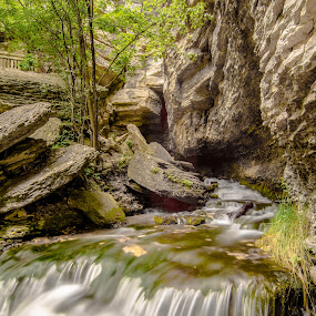 Rolling Bend by Bob White - Nature Up Close Water ( love, water, picoftheday, waterfall, longexposure, rocks, natural, spring,  )