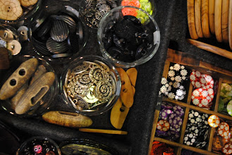 Photo: This is about 1% of the table of buttons in just one of the button and accessory stands. I am so pleased that I managed to NOT buy All The Buttons!