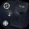 Black liquid metal channel Galaxy M20 Tech theme icon