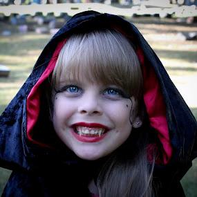 by Brooke Beauregard - Public Holidays Halloween ( vampire, girl, cemetery )