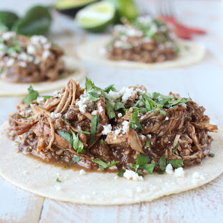 Slow Cooker Chicken Mole Tacos.