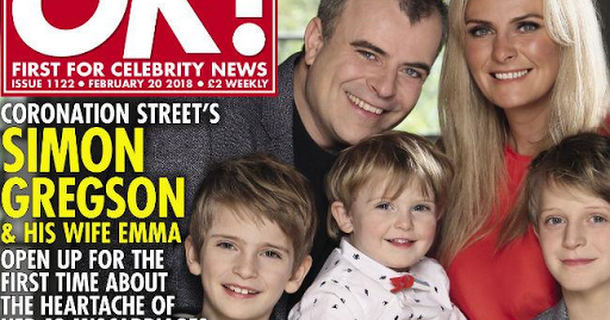 Simon Gregson's wife opens up about ectopic pregnancy