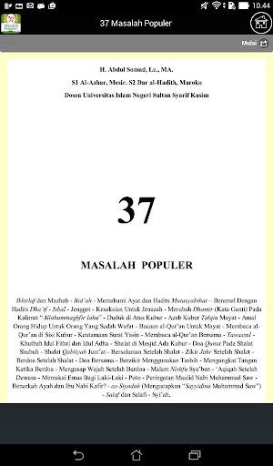 37 Masalah Populer - Abdul Somad, Lc. MA screenshot