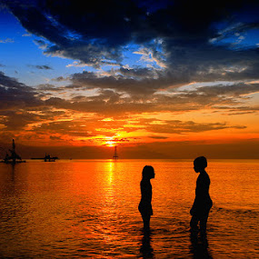Enjoy the sunset by Anta Abine Hiro - Landscapes Waterscapes ( landscape )
