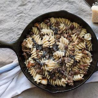 Pasta alla Boscaiola (Mushroom, Olives, and Sausage Pasta)