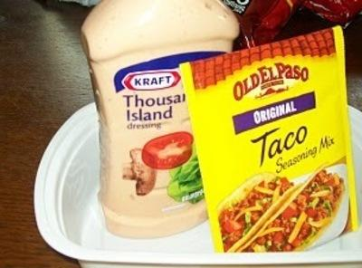 Cook and scramble meat over medium heat. Drain well and cool completely.Add the taco...