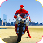 Superhero Tricky bike race (kids games) icon