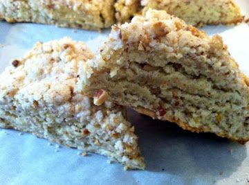 Almond Crumb Scones With Honey Butter Recipe