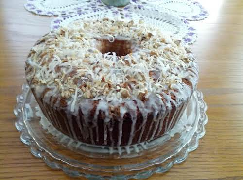 """Click Here for Recipe: Texas Coconut Pound Cake """"This cake is absolutely..."""