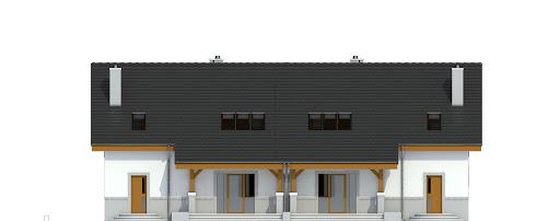 Gajówka bez garażu bliźniak B-BL2 - Elewacja tylna