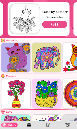 Color by number - color by number for adults - screenshot