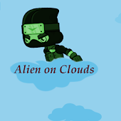 Alien on clouds