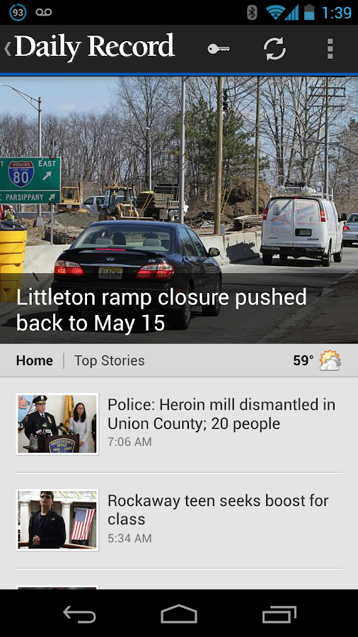 Daily Record Morris Co, NJ- screenshot