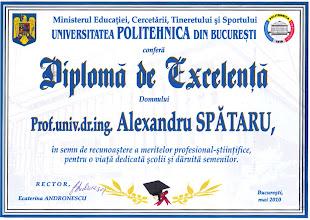 Photo: Diploma de excelenta