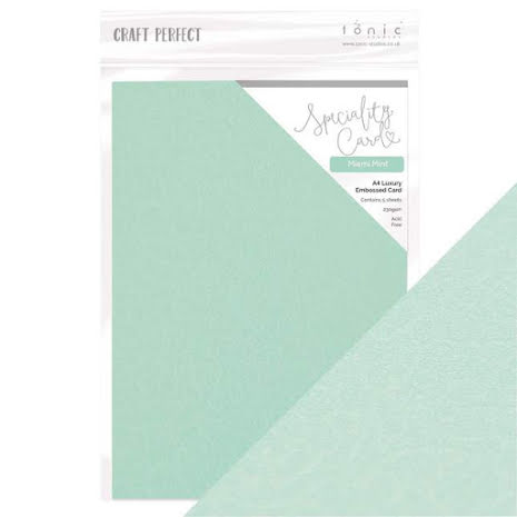 Tonic Studios Craft Perfect Speciality A4 Papers - Miami Mint 9850E